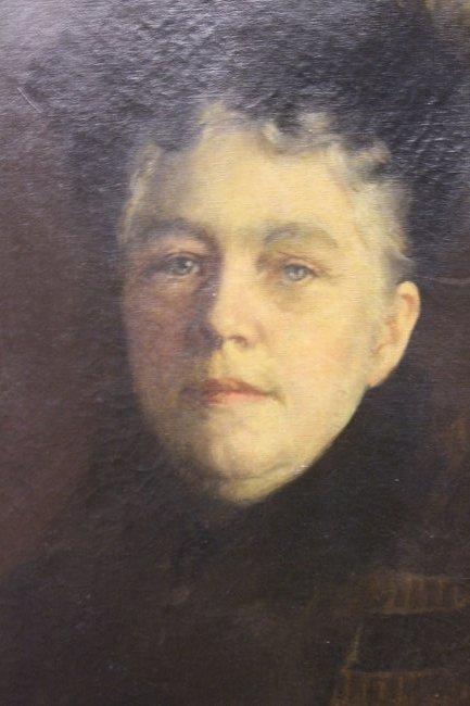 Large Antique Portrait of Gertrude Weld Parkinson - 2
