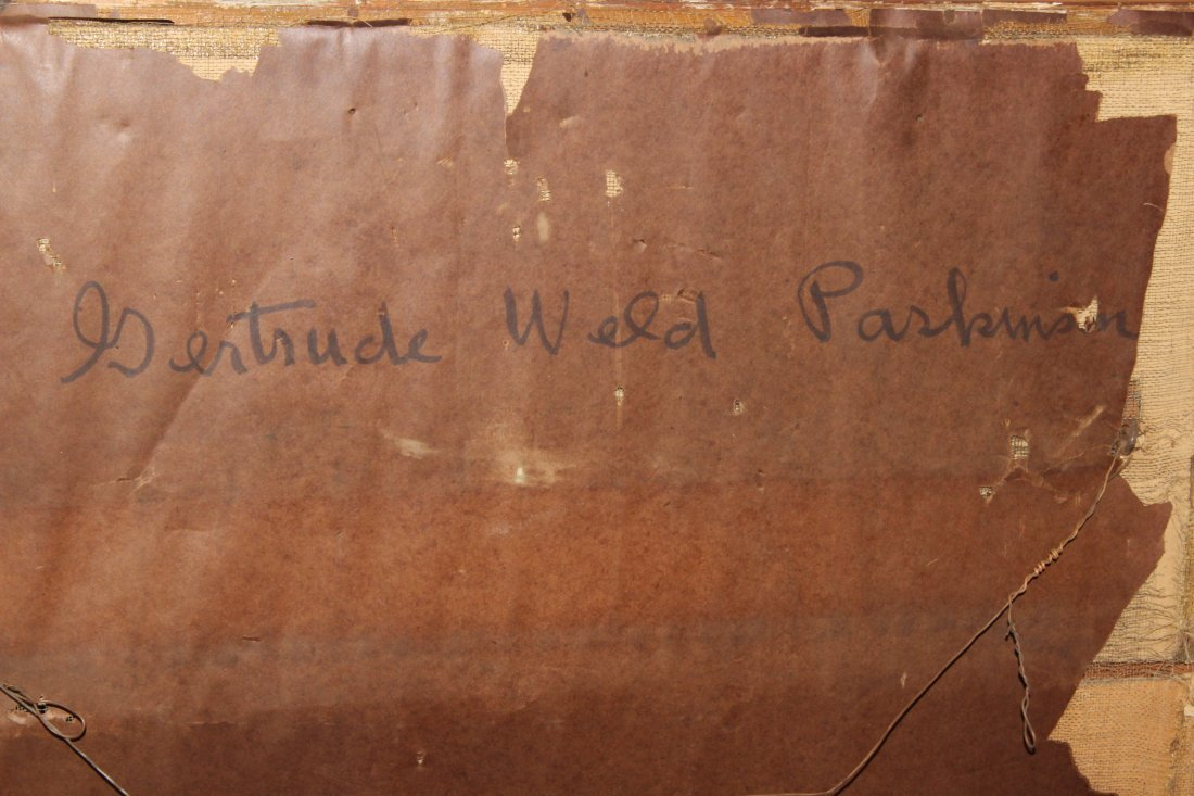 Large Antique Portrait of Gertrude Weld Parkinson - 4