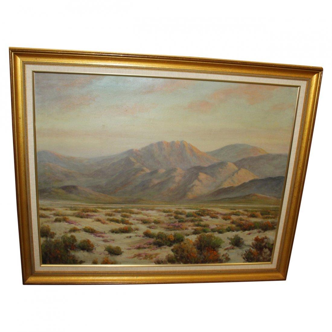 Oil on Canvas Herbert Sartelle Southwest Desert Scene