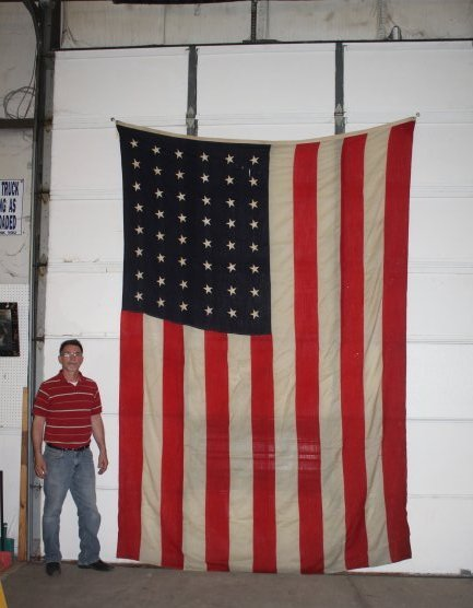 """Early 48 Star US Flag 8' x 11'6"""" - 2"""