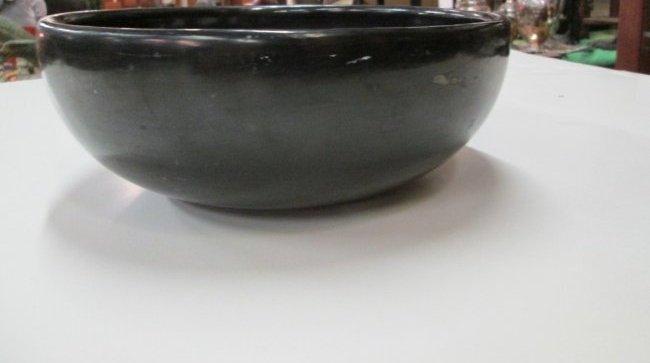 Maria Martinez Black Pottery Bowl - 2