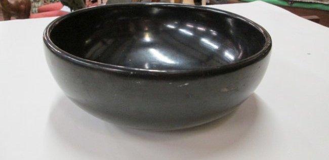 Maria Martinez Black Pottery Bowl - 3