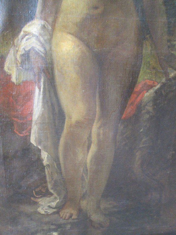 Large Antique Oil Painting of a Nude - 4