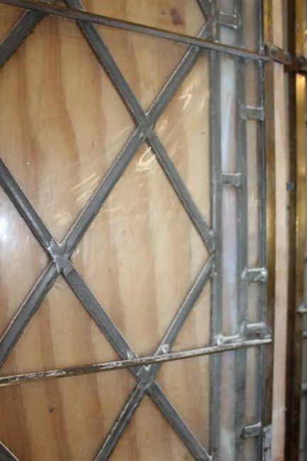 2 Large Antique Harlequin Leaded Glass Panels - 3