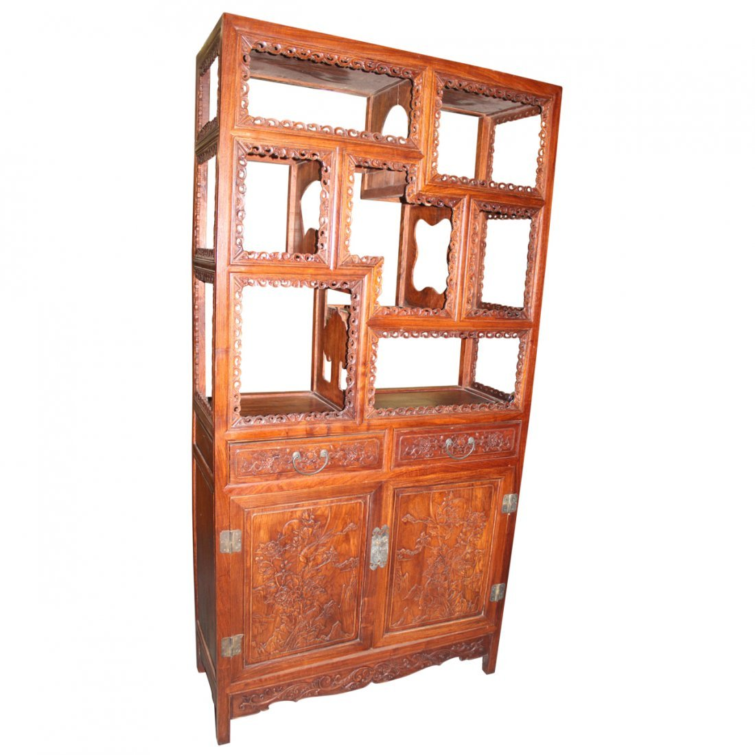 Chinese Carved Etagere