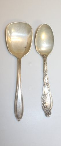 Large Sterling Silver Serving Spoons
