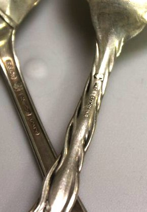 Large Sterling Silver Serving Spoons - 3