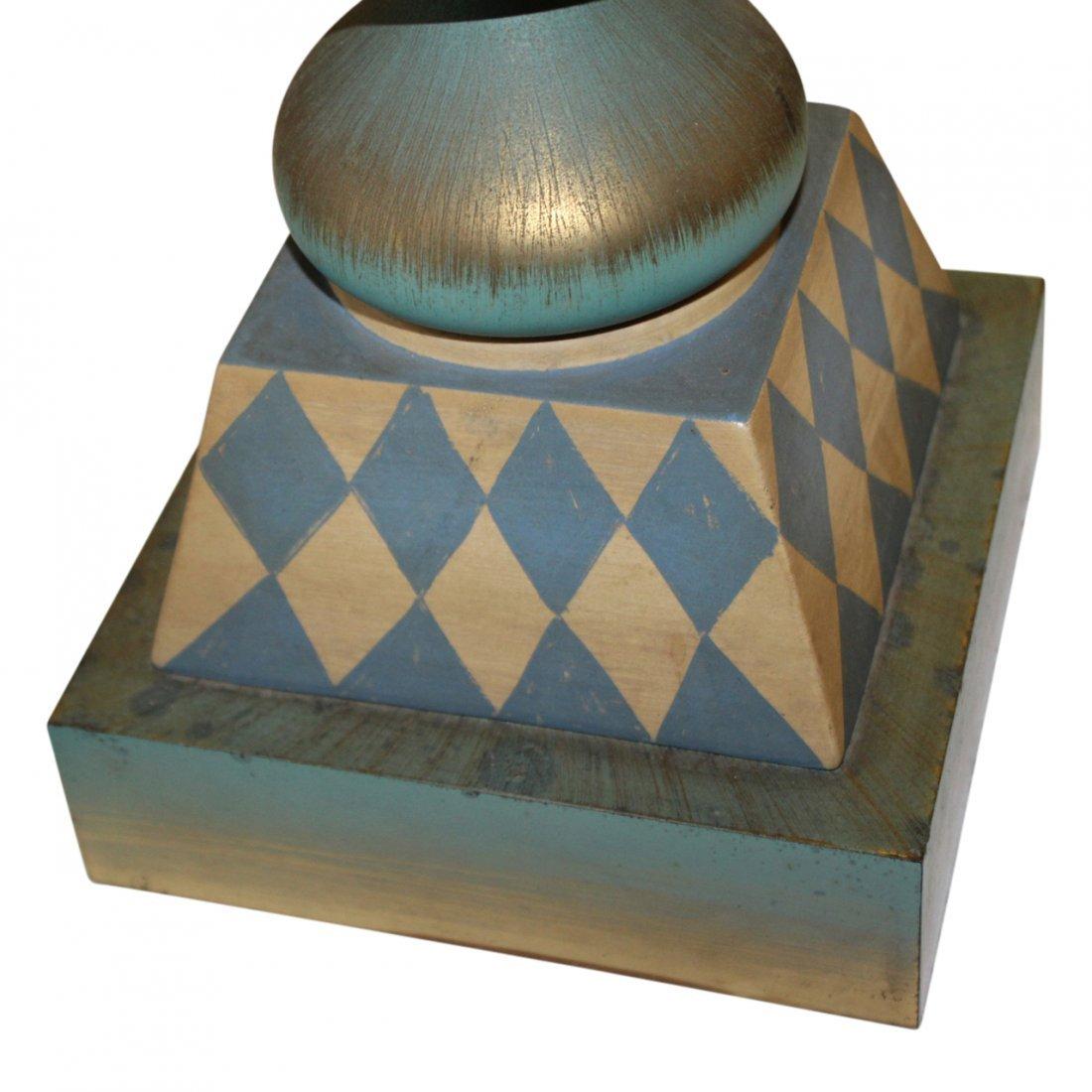 MCM Hand Painted Harlequin Lamp - 2