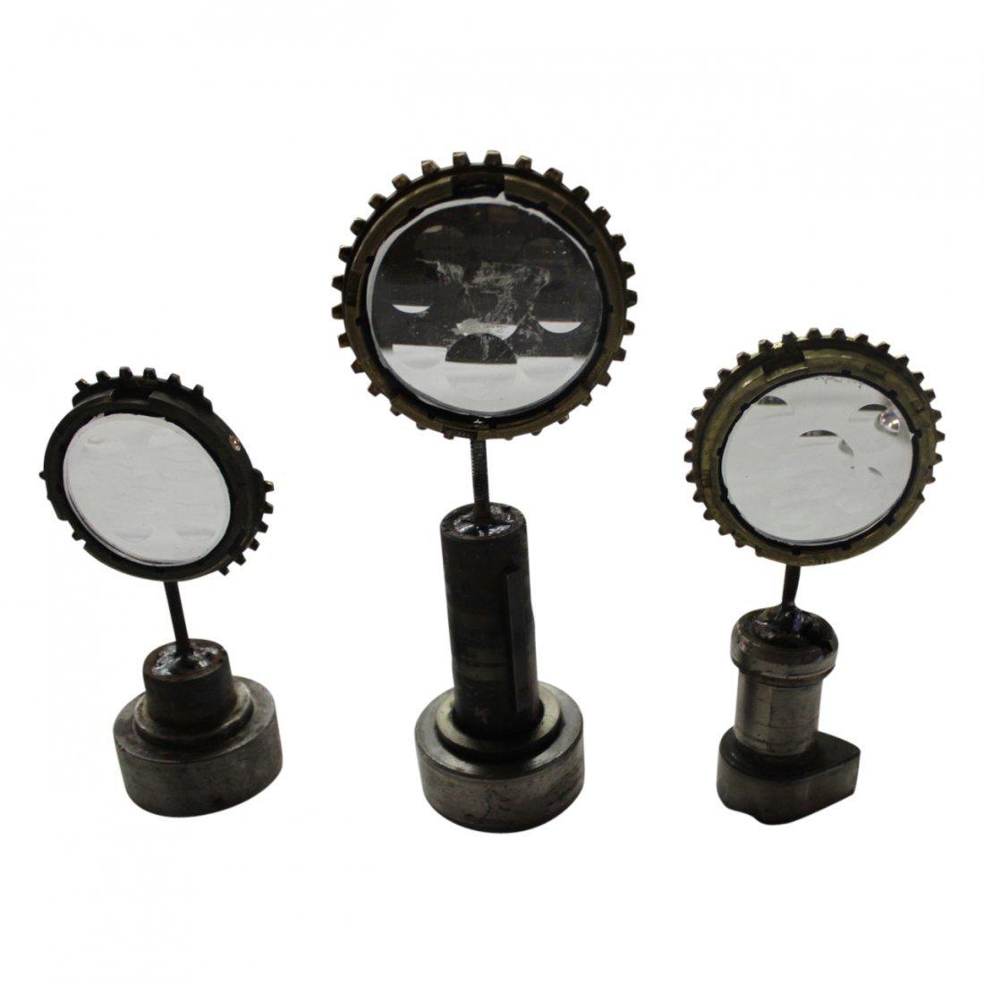 3 Feliciano Bejar Brass and Crystal Miniature Magiscope
