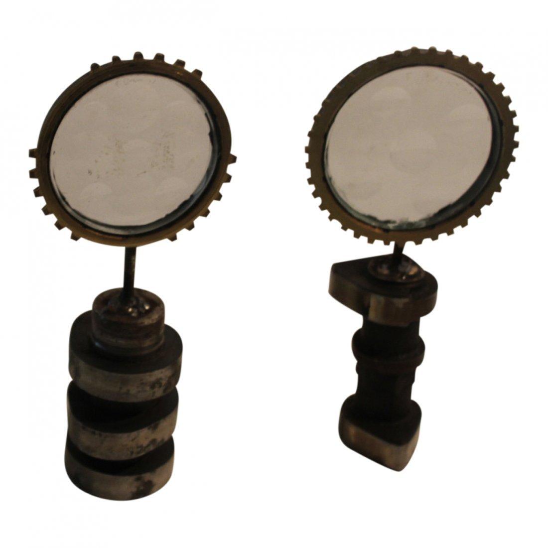 2 Feliciano Bejar Brass and Crystal Miniature Magiscope