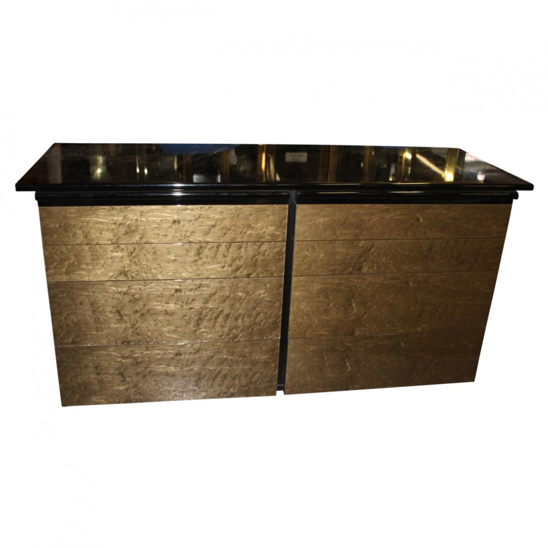 Pair of large Lacquer Bureau's by Maurice Villency