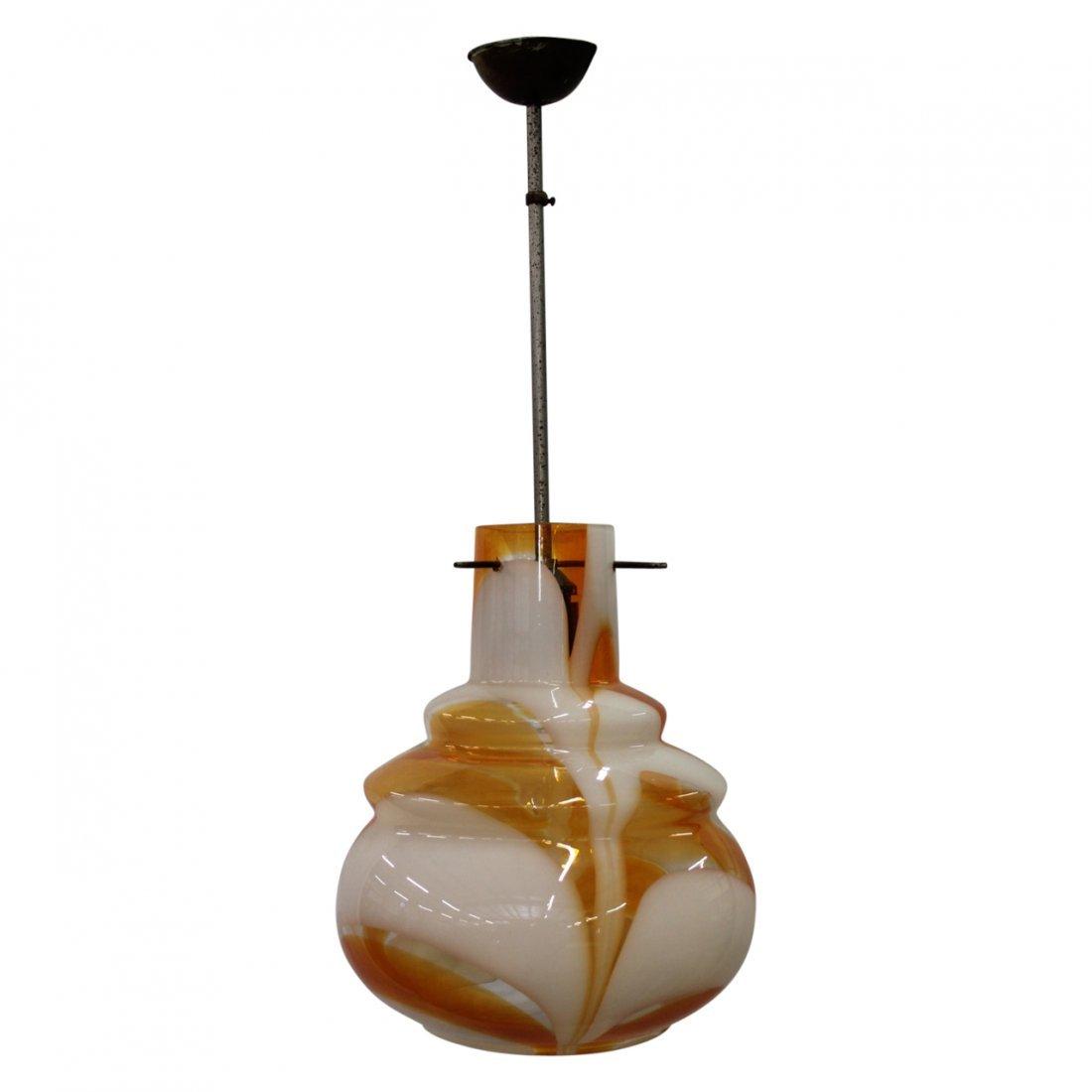 Murano Orange Swirl Glass Targetti Sankely Chandelier