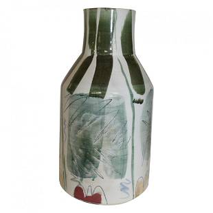 Modern Signed George Handy Ceramic Vase