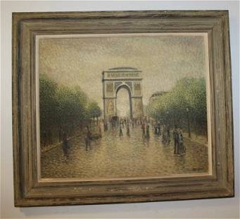 French Oil Painting By Jacques Mid Century