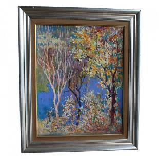 Oil on Board Painting by Edward Lis