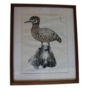 Bird Print Inuit Signed Ulayw
