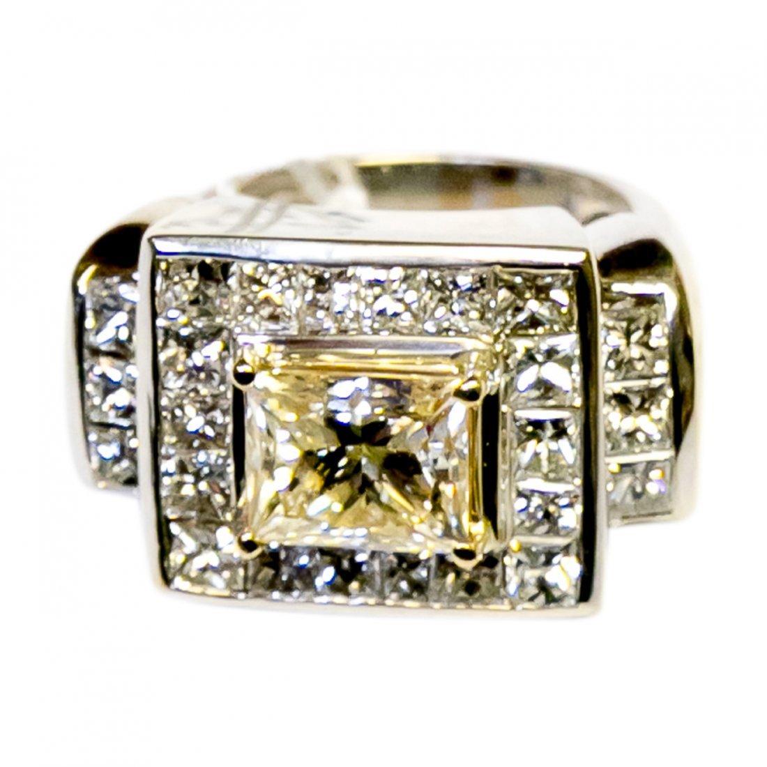 Gold Diamond Ring 7.75 Carats