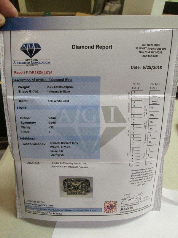 Gold Diamond Ring 7.75 Carats - 2