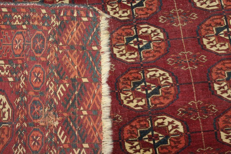 Fine Antique Tekke Turkoman Carpet - 2