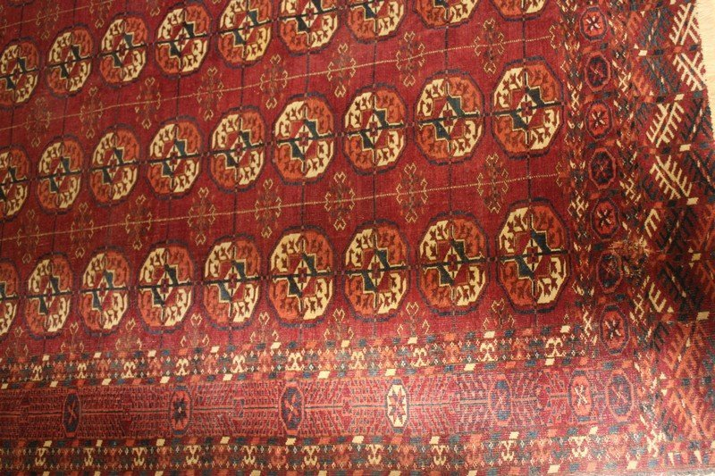 Fine Antique Tekke Turkoman Carpet - 3