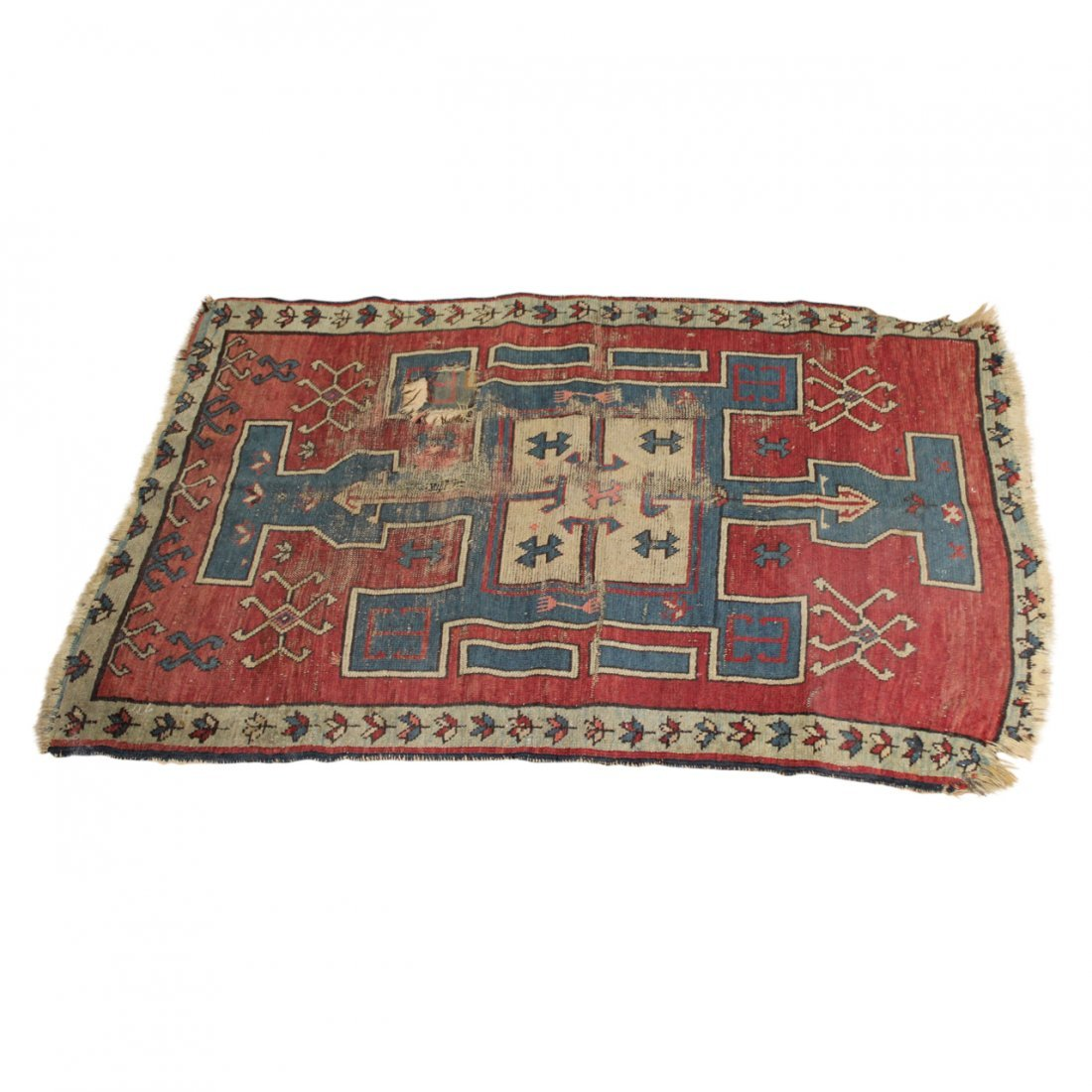 Antique Persian Tribal Kazak Carpet