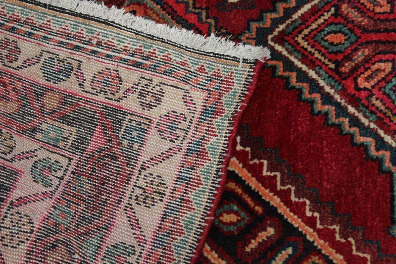 Vintage Hamadan Persian Carpet - 3