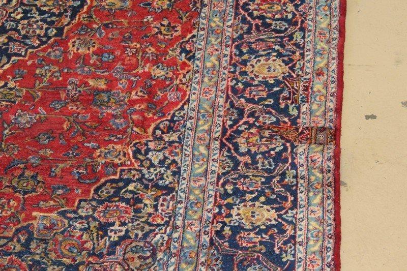 Vintage Room Size Kashan Persian Carpet - 2