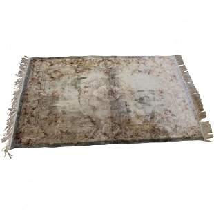 Vintage Chinese Silk Carpet