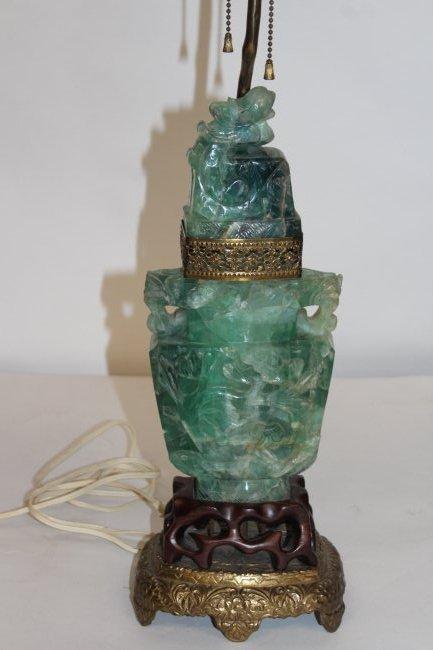 Fluorite Antique Chinese Vase Lamp - 2