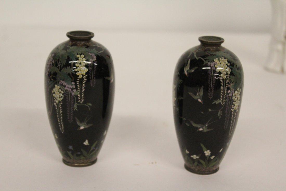 Pair of Antique Japanese Cloisonné Vase - 2