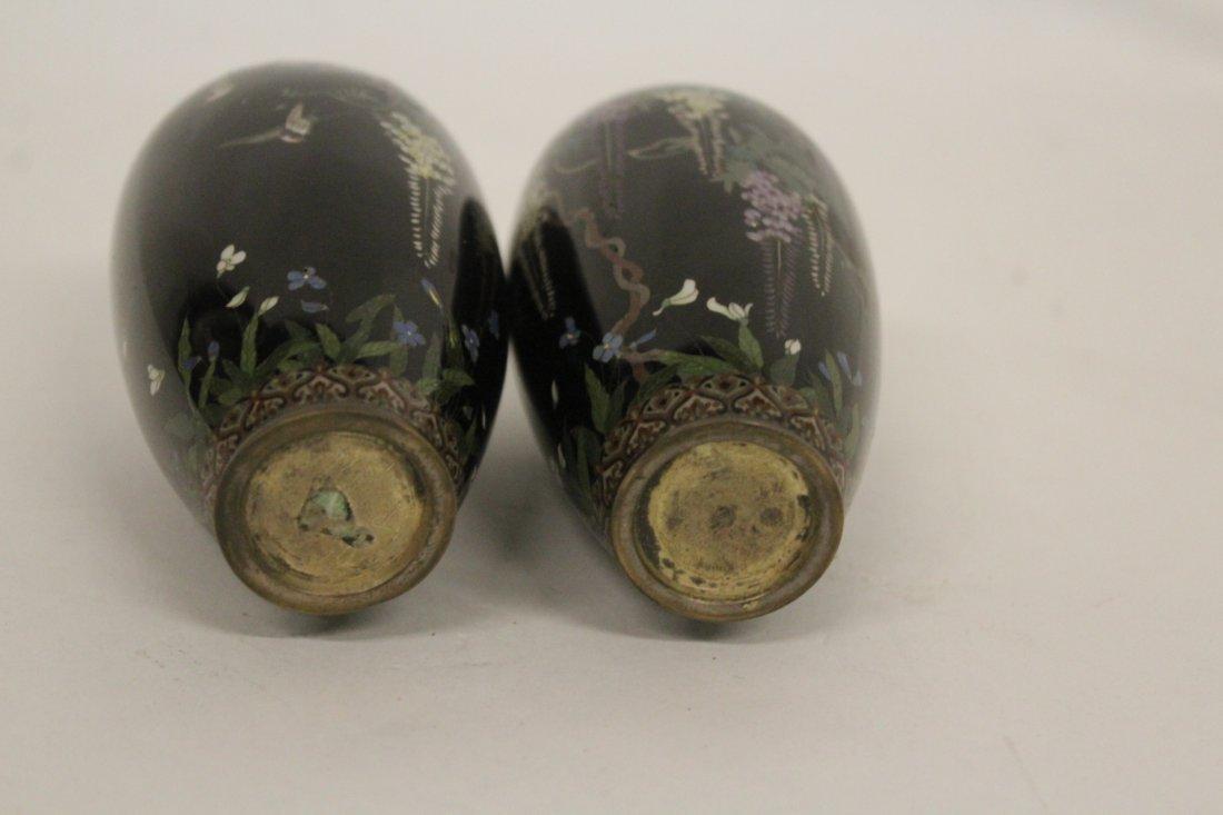Pair of Antique Japanese Cloisonné Vase - 3