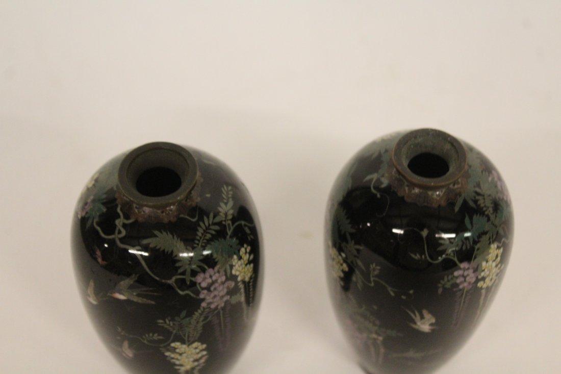 Pair of Antique Japanese Cloisonné Vase - 4