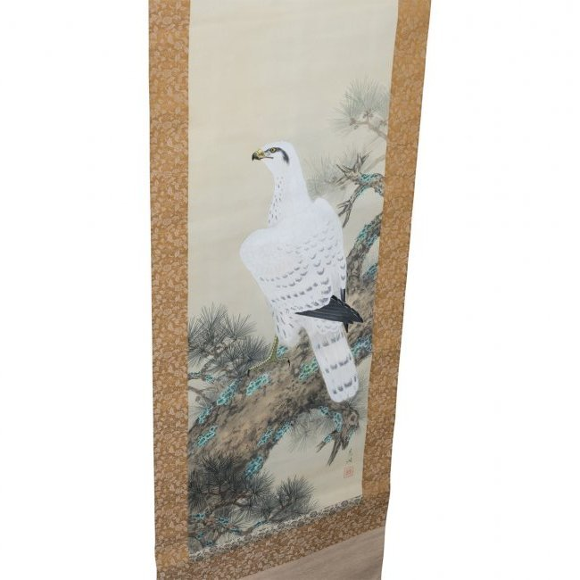 Chinese Antique Scroll Falcon - 2