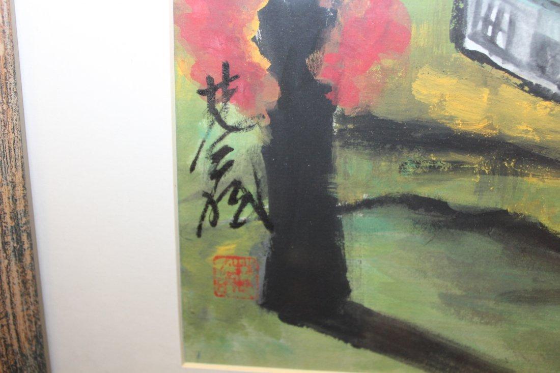 Lin Fengmian Gouache of House - 2
