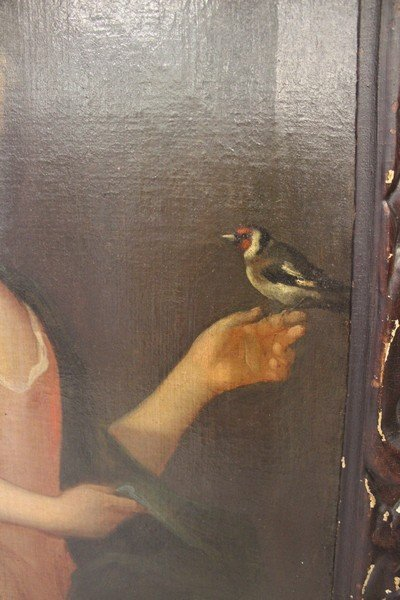18th Century Painting of a Child Holding a Bird - 3