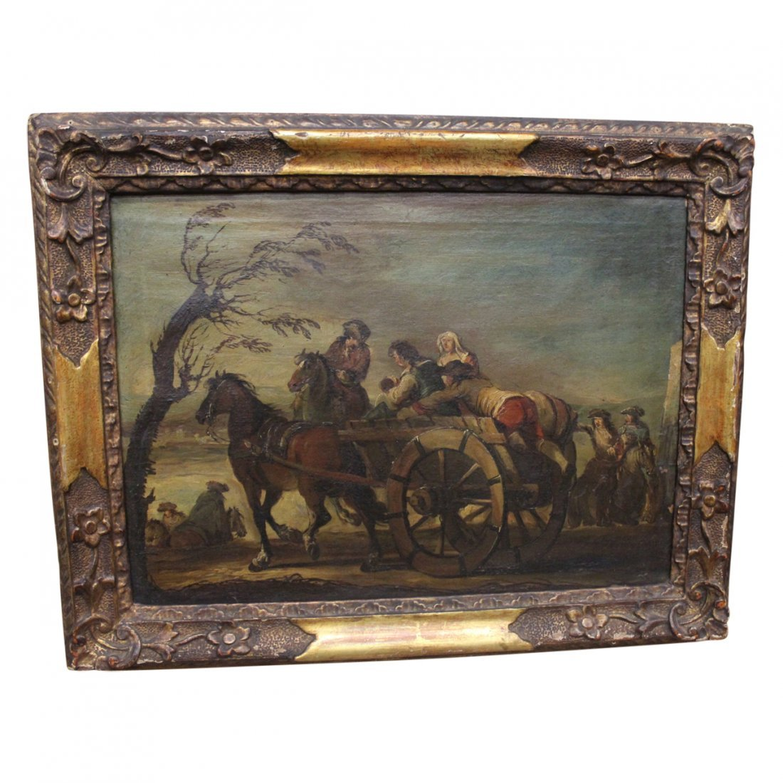 Antique Oil Painting in the Manner of Goya