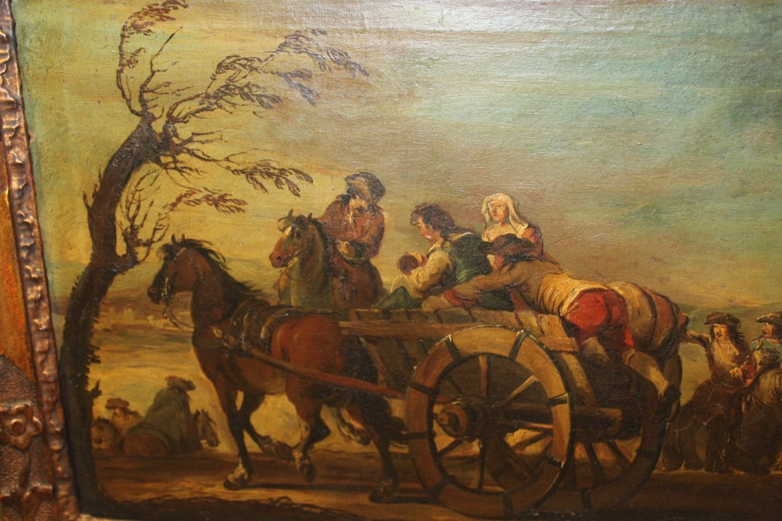 Antique Oil Painting in the Manner of Goya - 5