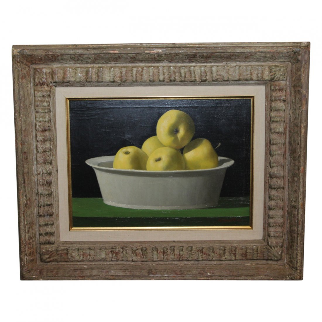 Painting of Apples by Marc C Schoettle  (1925 - 1982)