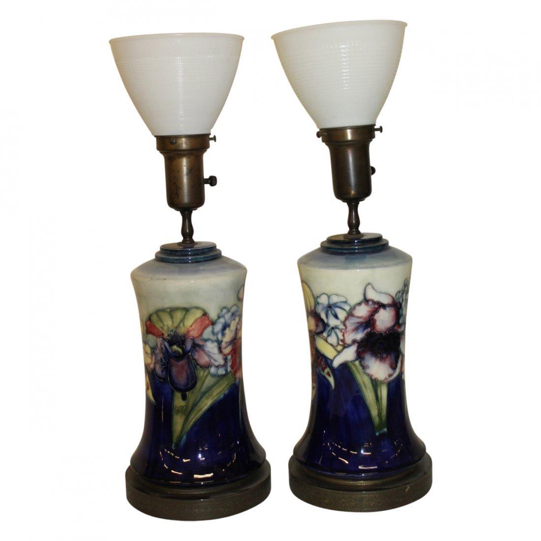 Pair of Moorcroft Lamps