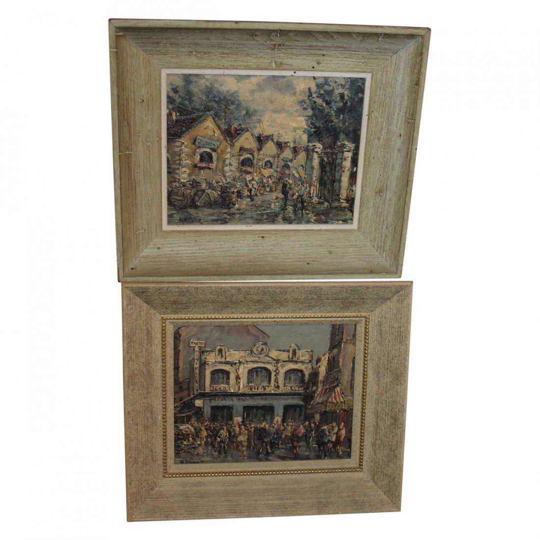 Pair of French Mid Century Oil Paintings by Besse