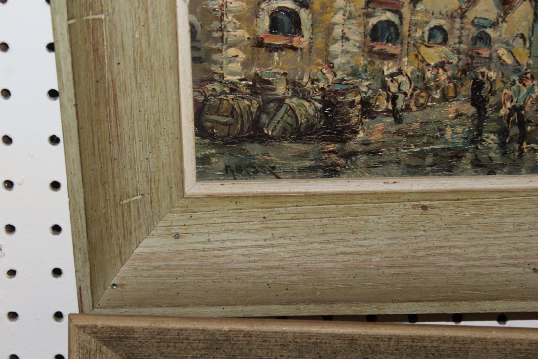 Pair of French Mid Century Oil Paintings by Besse - 2