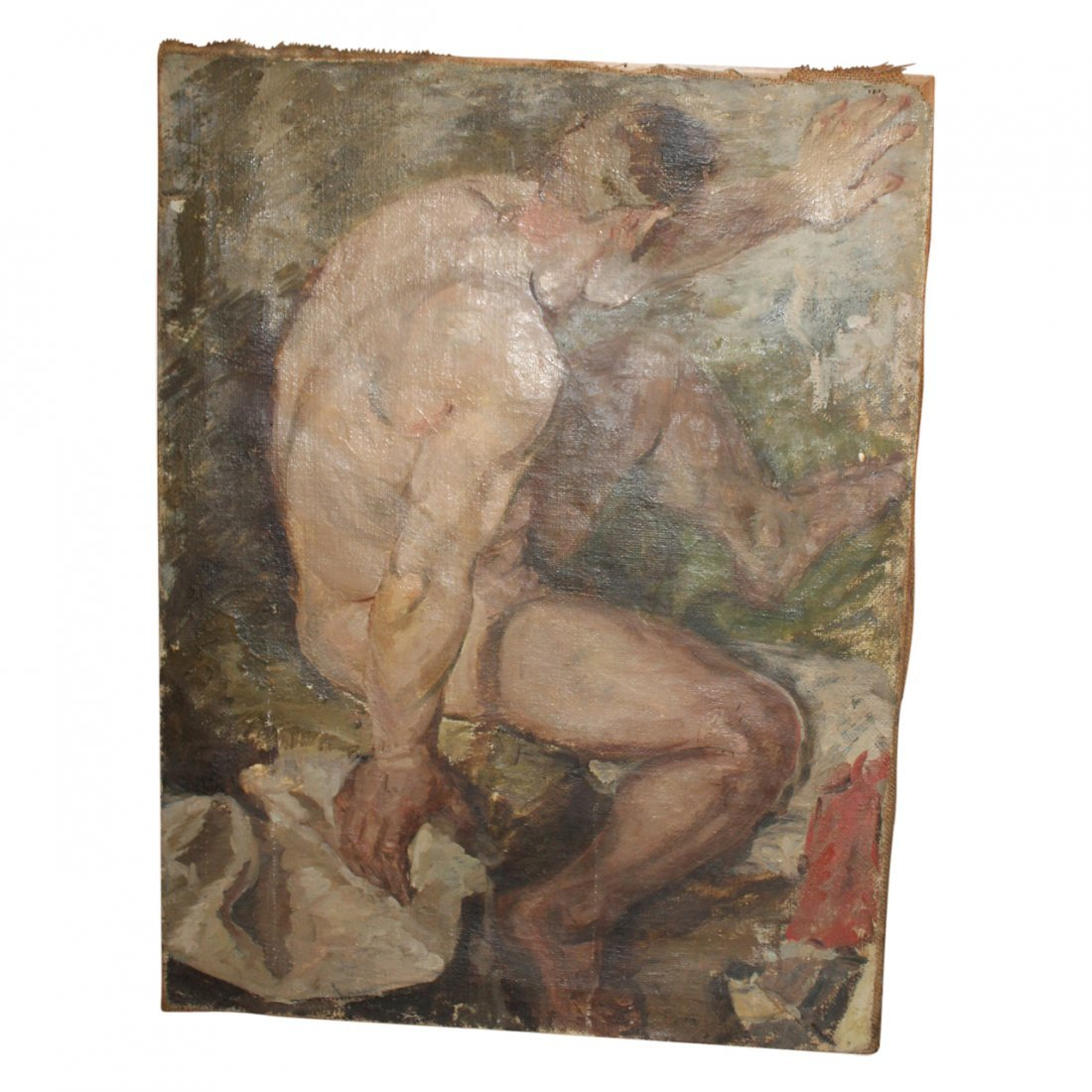 Painting of a Male Nude by Forshu Druga