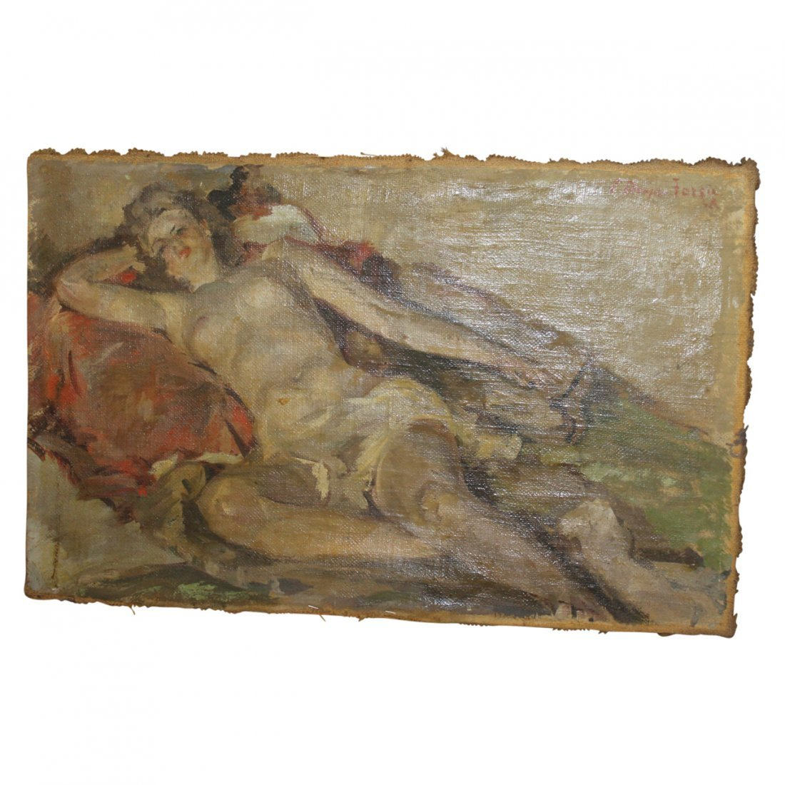 Painting of a Nude Woman by Forshu Druga