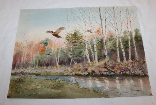 Watercolor Painting by Robert W Milliken  (1920 - 2014)