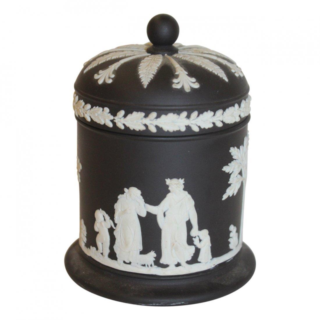Black Wedgwood Covered Jar