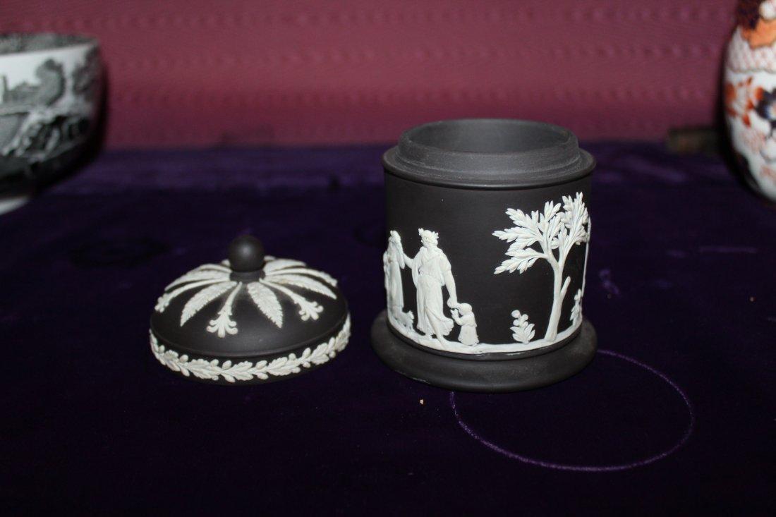 Black Wedgwood Covered Jar - 2