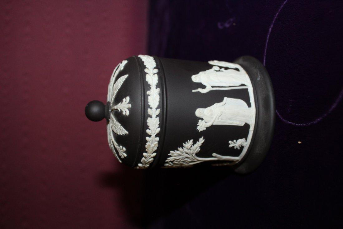Black Wedgwood Covered Jar - 4