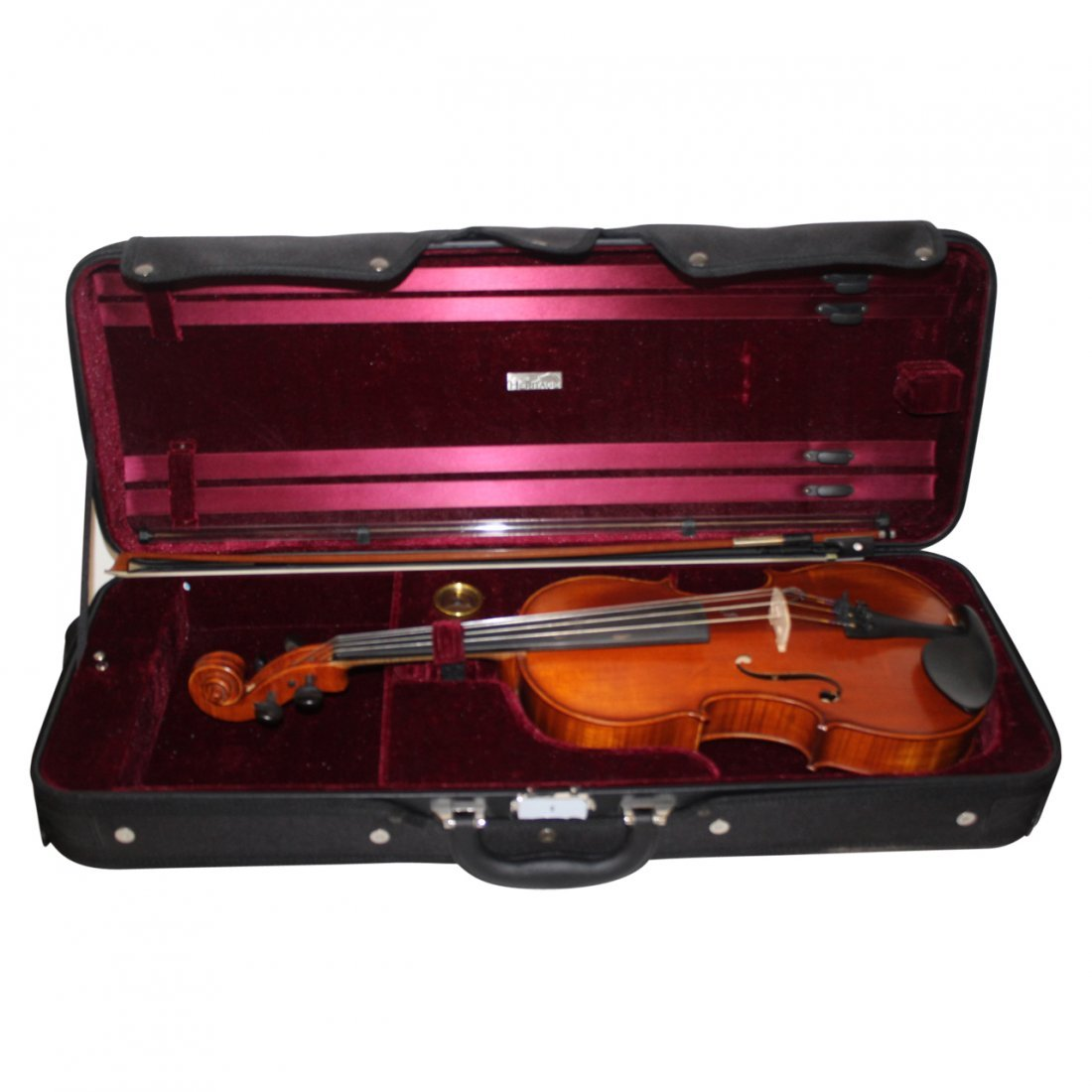 Violin in Case with Bow Signed