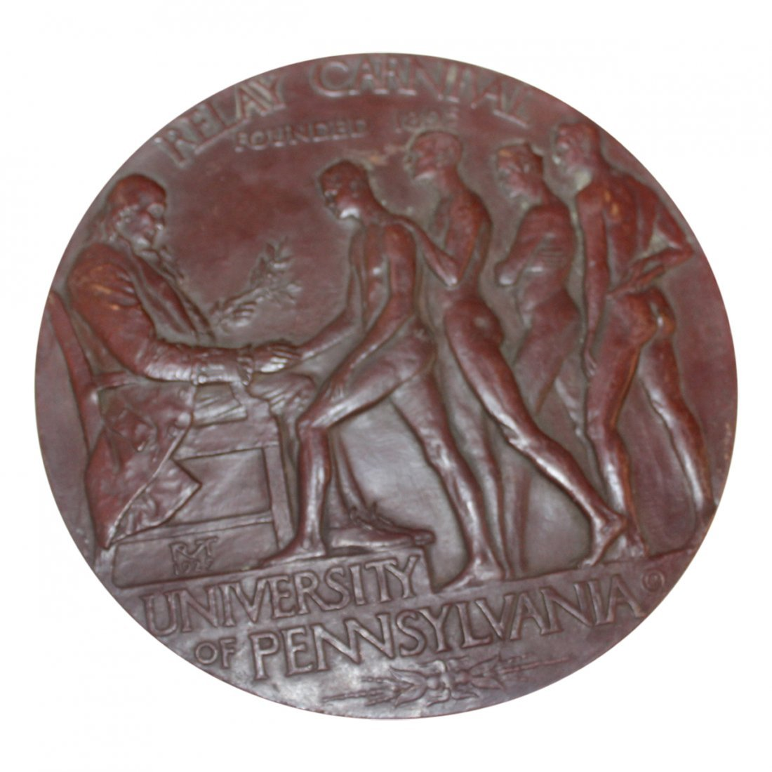 Bronze University of Pennsylvania  Vintage Plaque