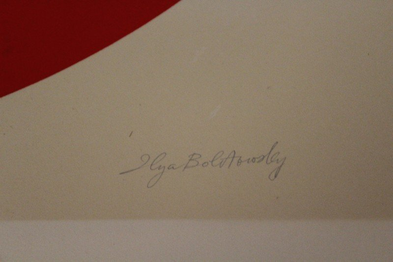 Rare Ilya Bolotowsky Russian Signed Lithograph Numbered - 2
